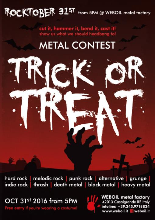 Metal contest poster design