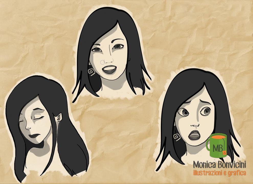 Martina - cartoon portrait