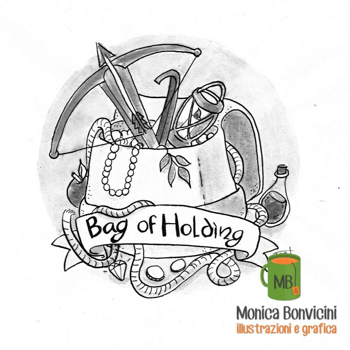 Inktober 2018-05: Bag (of holding)