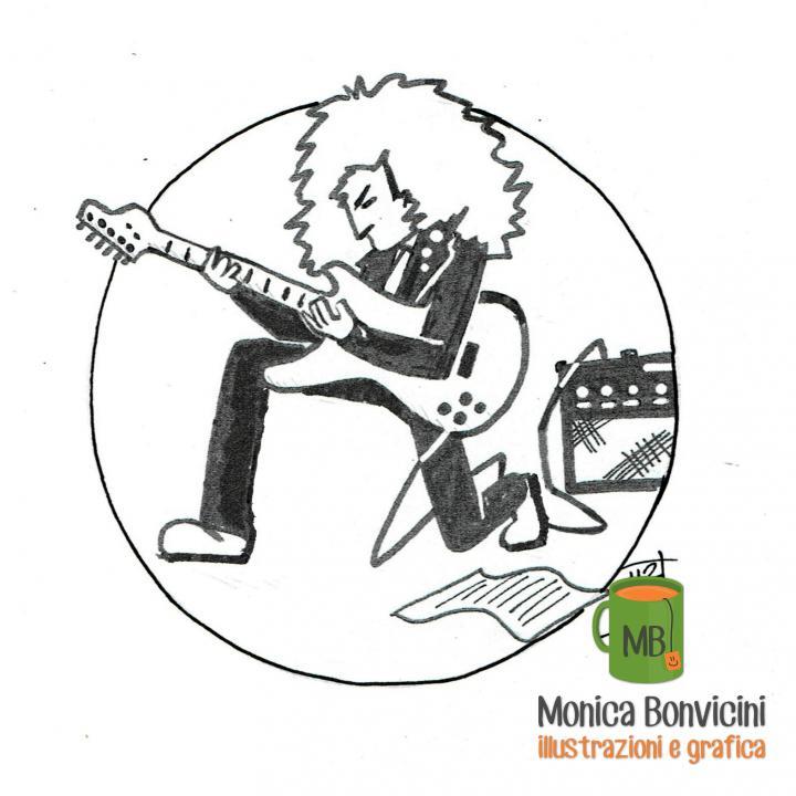 Inktober-07: scaletta (a rock guitar player)