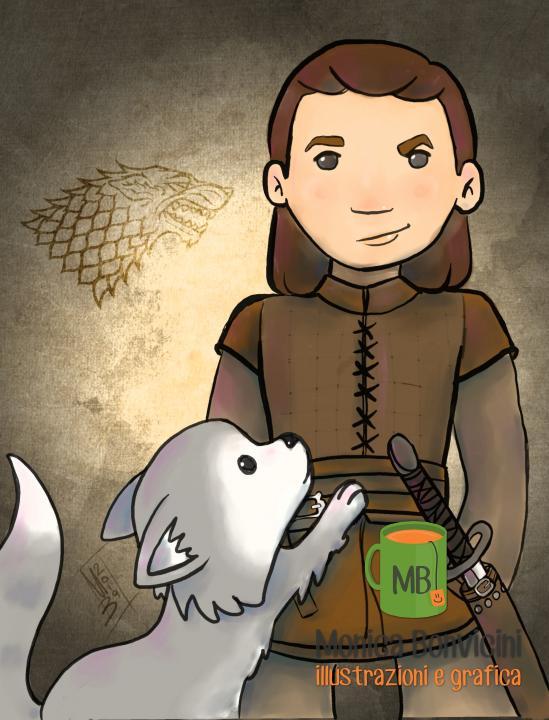 """Arya Stark e Nymeria da """"Le cronache del ghiaccio e del fuoco"""""""